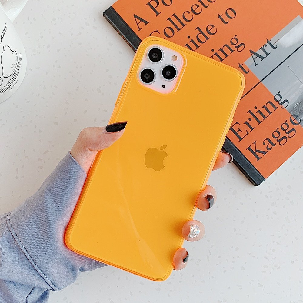 Neon Soft Silicone Phone Case for iPhone